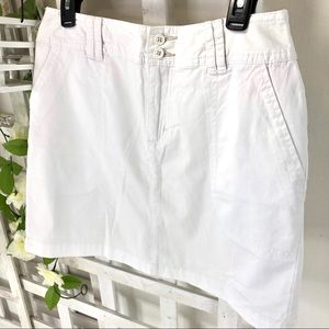 St Johns Bay Skort size 8 NWT White Stretch Skirt